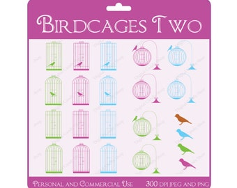 INSTANT DOWNLOAD Digital Scrapbook Embellishments and Clipart Birdcages Two Collection