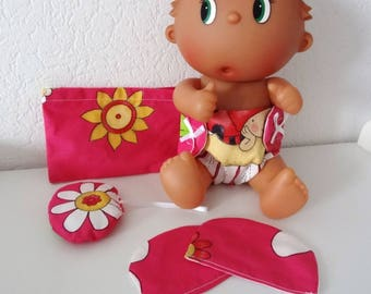 Diaper, wipes and blanket for dolls and babies