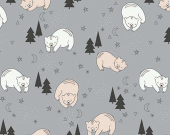 Bear Baby Bedding / Changing Pad Covers / Fitted Crib Sheets / Mini Crib Sheet / Bear Crib Sheets / Grey Crib Bedding