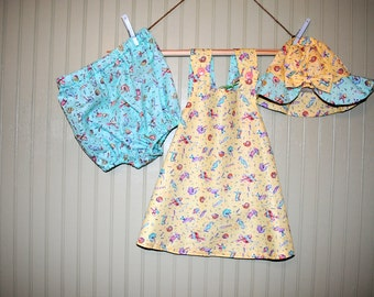 Baby Girls Clothing,  Baby Girls Dress, Toddler Dress, Summer Dress, Beach Dress, Reversible Dress