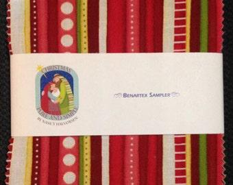 "Christmas Pure & Simple Charm Pack - (42) 5"" X 5"" Squares  Cotton Quilt Fabric - Nancy Halvorsen - Benartex - Pure and Simple (W1806)"