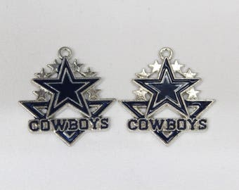 Dallas cowboys etsy 2pc dallas cowboys pendant dallas cowboys jewelry dallas cowboys necklace dallas cowboys charm aloadofball