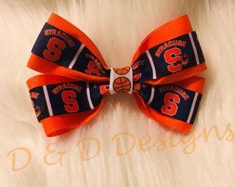 Syracuse SU Basketball Hair Bow