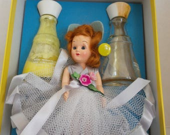 SALE  1950s Avon Collectible Daisies Won't Tell Storybook Doll Gift Set