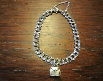 SOLD James Avery Sterling Charm 2 Ring Bracelet with Avery Purse Charm