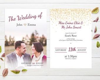 Handmade Digital Wedding Invitation