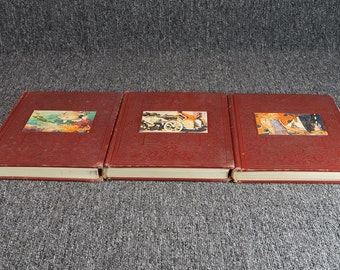 The New Wonder World A Library Of Knowledge Volumes 2, 6 And 10. C.1949