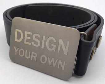 Custom belt buckle titanium buckle bespoke belt metal belt buckle silver buckle gift for men Father's Day gift personal gift for him werewol