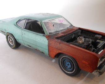 Classicwrecks,Scale Model Car,Junkyard Model,Barn Find,Dodge Dart, 124 Scale