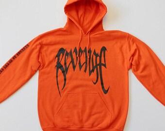 XXXTentacion Hoodie Revenge Hoodie Inspired Orange hoodie