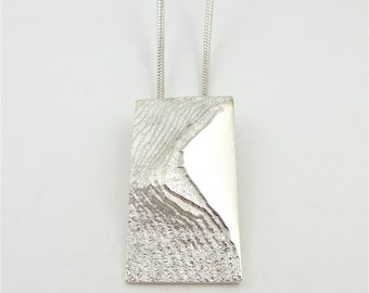 Ridge sterling silver pendant