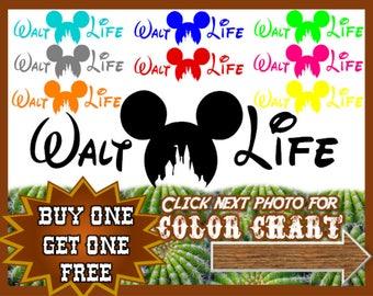 Walt Disney Decal, Buy one GET ONE FREE, Mickey Mouse, Castle, Salt Life, Car Window Decal, Sticker, Vinyl Decals Custom, Windshield Truck