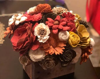 Fall Sola Flower Centerpiece