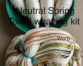 Beginner Weaving Kit, Neutral Towels, Weaving Loom Kit, DIY Weaving Kit, How to Weave Kit, DIY Weaving Kit, Loom Weaving, Pre-wound