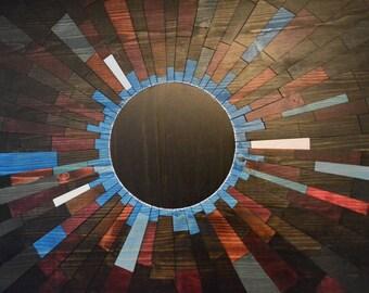 "wood art - ""Blue Venusian"" - Wooden wall art, wall art, wood wall art, wall hanging, wood slices, wood signs, stainsandgrains, Jeremy Gould"