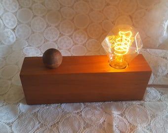 Handmade Edison Lamp w/Dimmer Switch, Gift, Table Lamp, Nightstand Lamp