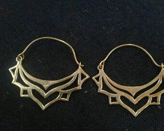 Tribal Hoop Earrings
