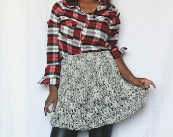 The Frayed Crochet Denim Skirt. Instant Download!
