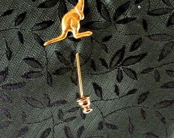 Gold Tone Detailed Kangaroo Lapel Pin Vintage 70 Pin Small Kangaroo Stick Pin Kangaroo Gold Pin Australian Lapel Pin
