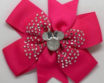 Minnie Mouse - Large: 12.5cm Pinwheel Hair Bow Clip