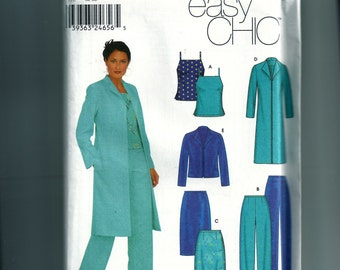 Simplicity Misses' /Miss Petite Top, Skirt, Pants and Lined Jacket Pattern 9572