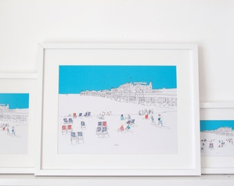 Brighton Beach - Limited Edition Signed Print