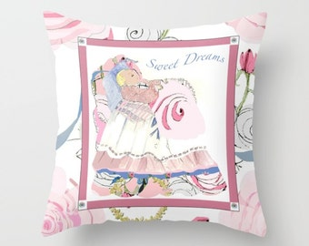 Indoor pillow cover with pillow insert, Indoor Pillow Cover, Baby Sweet Dreams