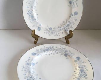 Wedgwood Belle Fleur Pattern Salad Plate 1961 - 1991 Made in England