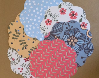 12 - 5 1/2 inch Circles with Scalloped Edge Set S35
