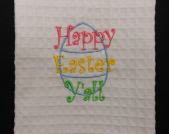 Happy Easter Y'all Hand Towel