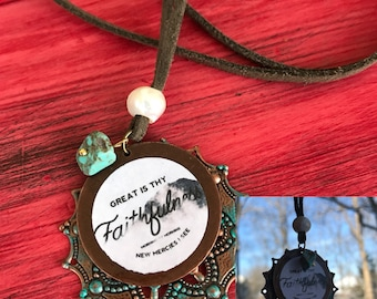 Great is thy faithfulness long necklace