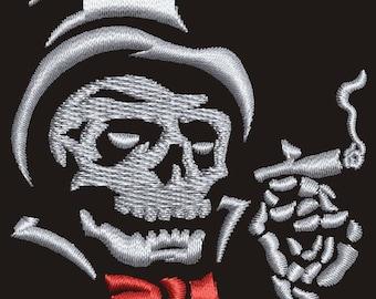 skull Machine Embroidery Design