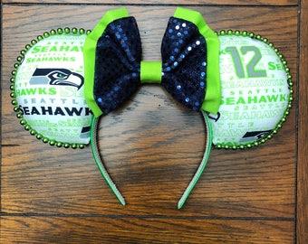 Seattle Seahawks Football Mouse Ears