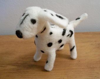 Dalmatian Figure, FeltWithAHeart, Needle Felted Dog, Handmade Dog