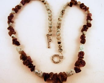 Amethyst Necklace: Natural Crystal kiwi jasper Stone Jewelry