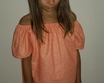 Girls peasant blouse - 6T - 12T