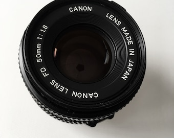 Vintage Canon FD 50mm F1.8 lens Japan 1980s