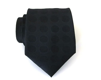 Mens Ties Black Dots Mens Necktie