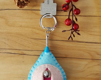 Vagina keychain, vulva keyfob, vag key, lesbian keyring, feminist totem, midwifery gift {Ariel OLW KEY}