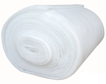 Bonded Dacron Upholstery Grade Polyester Batting 48 Inch Wide (5 yards)