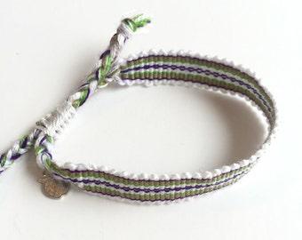 "SALE,Boho Friendship Bracelet, Fair Trade and Ethical, ""Caribbean Fun"""