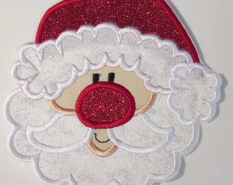 Christmas Santa - Iron On or Sew On Embroidered Applique