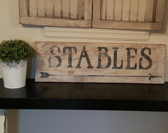 Rustic stables sign/equestrian /horse/barn
