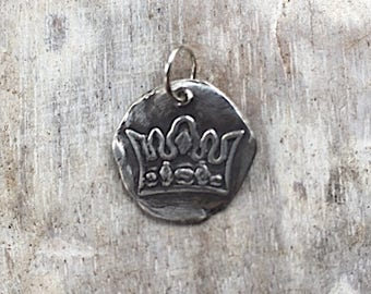 Crown Wax Seal Charm - Wax Seal  Jewelry
