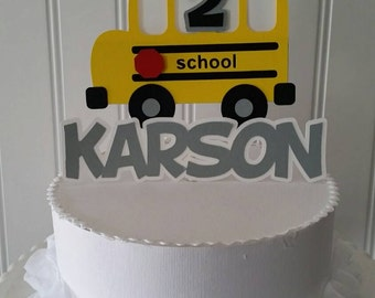 Yellow School Bus Cake Topper, Yellow School bus Cake, School bus Birthday, School First Birthday, wheels on the bus party, School Party