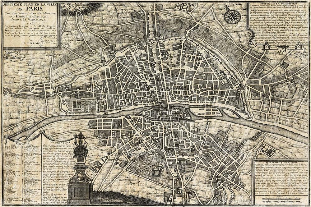 Old paris map restoration hardware style map of paris historic old old paris map restoration hardware style map of paris historic old world map street map of paris france circa 1705 wall map large paris map gumiabroncs Choice Image