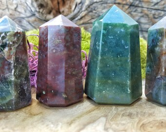 Bloodstone Crystal Tower Point -  074