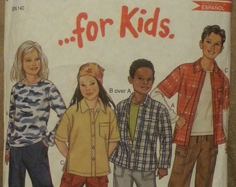 Vintage Sewing Pattern New look Just for kids 6023