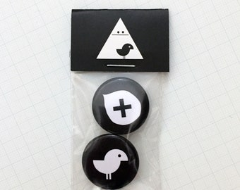 "Badges Pack ""Birdy + Cross"" (2)"