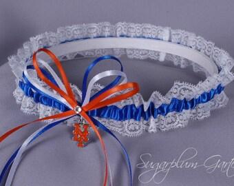 New York Mets Lace Wedding Garter